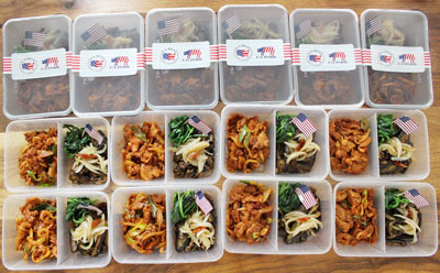 The Mom's U.S. Pork Lunch Box featured U.S. pork bulgogi and stir-fried pork and eggplant