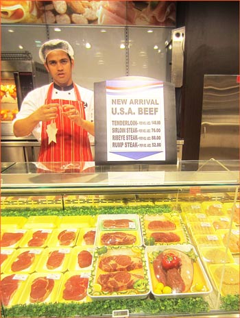 High-quality U.S. beef at an Al Maya Supermarket in the United Arab Emirates