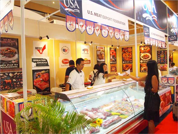 Attendees gather information on U.S. beef at Food & Hotel Indonesia