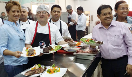 Chefs and importers take part in a U.S. beef training workshop in Bahrain