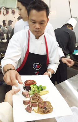 The workshop in Bahrain featured a variety of beef cuts prepared and served for chefs and foodservice managers