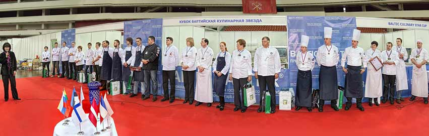 Chef teams from across the region competed in the Baltic Culinary Star Cup