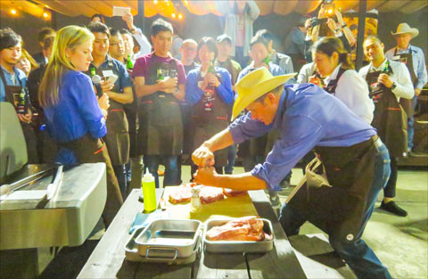 Members of the U.S. Beef Leadership Team participated in a number of marketing activities in Taiwan and Japan, including a steak cooking class and beef grilling event