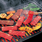 Beef on a Yaniniku grill