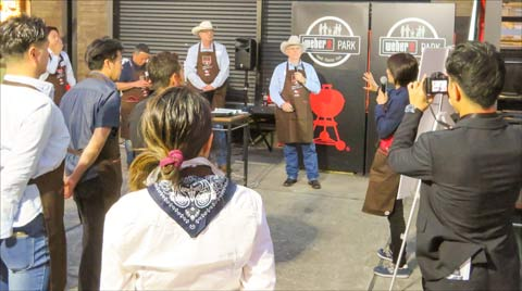 U.S. beef producers answered questions from Japanese bloggers and other participants during a Weber grilling event that focused on proper preparation and grilling of U.S. beef cuts