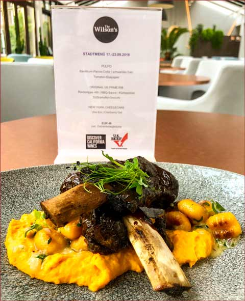 Various U.S. beef dishes were promoted on special menus developed for Berlin Food Week