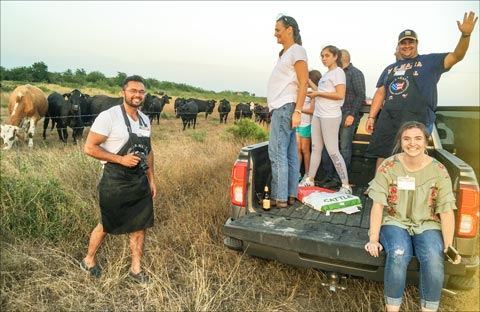 The Caribbean Barbecue Team photographs cattle on the Boots Ranch in Alice, Texas