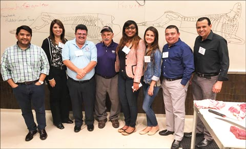The Central America team poses for a group photo during Center of the Plate training in College Station, Texas