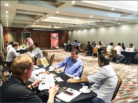 USMEF members and South American importers participated in one-on-one meetings at the show