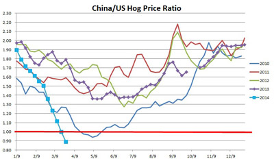 China's Falling Hog Prices