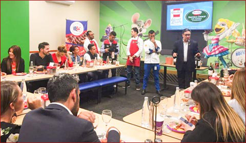 Hormel value-added products made with U.S. pork were featured at a special event at a Chuck E. Cheese's in Bogota, Colombia