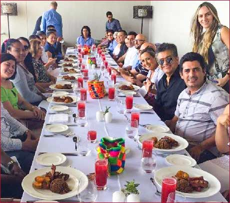 USMEF processed meat training in three Colombian cities included a lunch featuring U.S. pork dishes