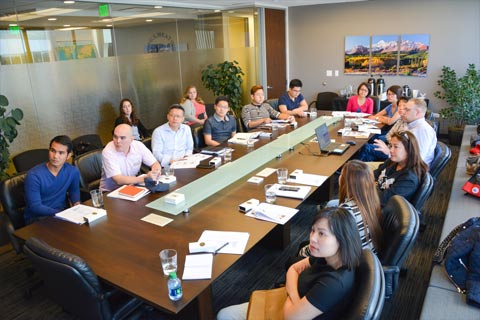 ASEAN meat buyers heard an overview of the U.S. red meat industry on a visit to USMEF headquarters in Denver