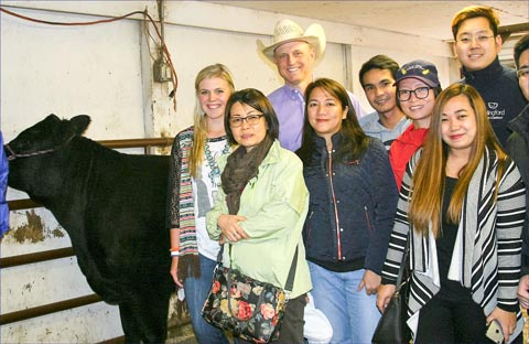 The ASEAN meat-buyer team visits a cow-calf operation in Colorado