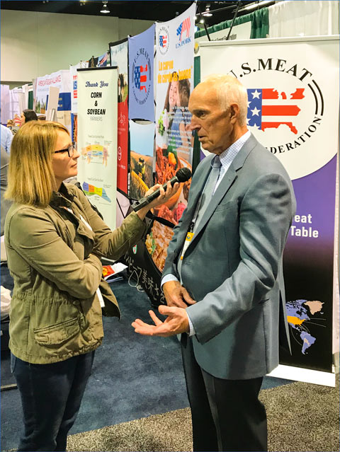 USMEF CEO Emeritus Philip Seng was interviewed by many reporters covering Commodity Classic