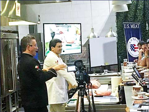 USMEF presented chefs and importers  with new ideas for serving U.S. pork and beef during three cutting and cooking seminars in Costa Rica
