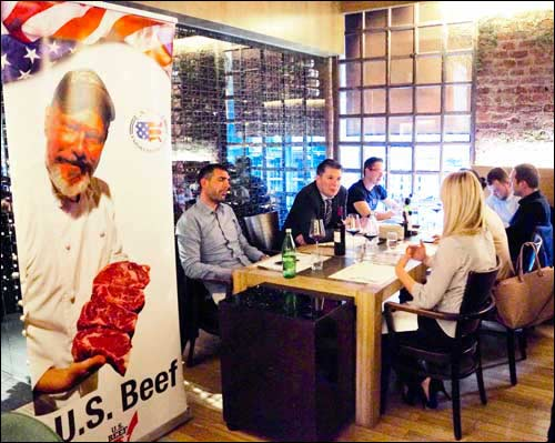 Chefs and food buyers from Croatia were treated to dishes made with U.S. beef and paired with Croatian wines