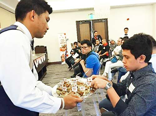 Culinary camp participants sampled U.S. beef, pork and lamb dishes
