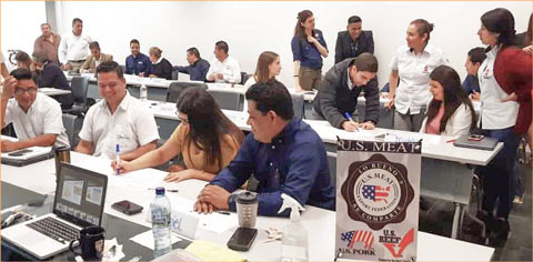 """USMEF organized a """"Customer Experience"""" seminar for 90 staff members of importing companies in Guatemala City, part of an effort to help increase sales of U.S. pork in Central America"""