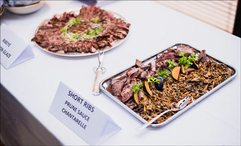 Attendees sample U.S. beef and receive information about production at the U.S. Food Showcase in Estonia