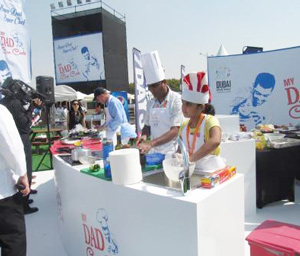 "One hundred pairs of fathers and their children participated in the ""My Dad Can Cook"" competition in Dubai"