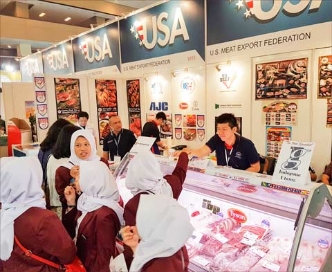Earlier this year, USMEF promoted U.S. beef and pork at Food and Hotel Indonesia in Jakarta