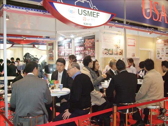 U.S. red meat attracted a steady stream of buyers at FoodEx 2012 in Tokyo