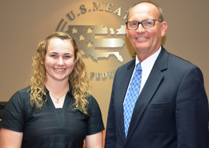 Greg Ibach, director of the Nebraska Department of Agriculture, is pictured with Kaydee Caldwell, a USMEF intern sponsored by the Nebraska Corn Board