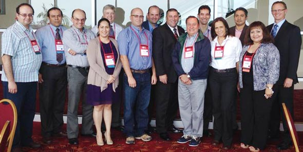Mexican meat scientists, led by Dr. Nelson Huerta of USMEF (front, 3rd from r.), attend the Reciprocal Meat Conference
