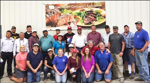 The Western Hemisphere team poses for a group photo on the Horning Farm in Marion, Iowa