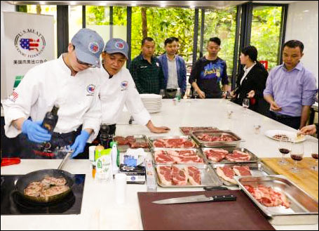 USMEF conducted U.S. red meat training workshops in Guangzhou to introduce U.S. beef and pork cuts and new menu ideas to the HRI sector