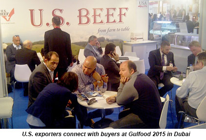 U.S. exporters connect with buyers at Gulfood 2015 in Dubai