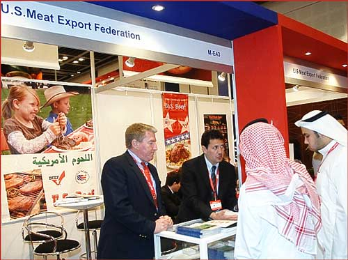 Arab Marketing and Finance Inc. (AMFI) booth at Gulfood 2013