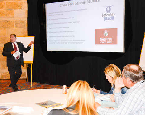 Dan Halstrom discusses U.S. beef's return to China with Export Growth Committee members