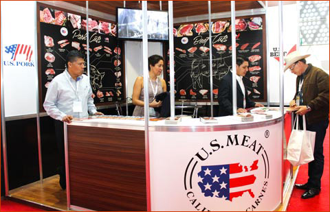 USMEF's booth at the International Meat Congress gave visitors information about U.S. beef and pork