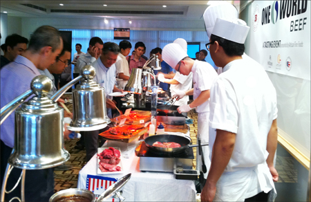 USMEF and Artisan Fine Foods staff escorted the visitors on a culinary tour of U.S. beef cuts