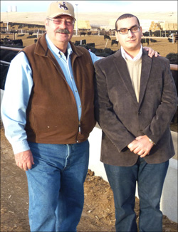 Rancher and Wyoming Beef Council representative, Irv Petsch and Amr Abd El Gliel, president of Agri Marketing