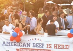 Guests enjoyed U.S. beef at the Independence Day