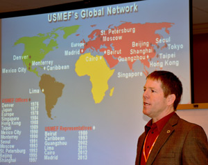 USMEF Chairman Mark Jagels speaks to the beef industry's Joint Global Growth Committee