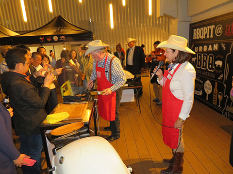 "The U.S. producer delegation participated in ""Urban BBQ,"" a consumer event in Japan promoting U.S. beef"