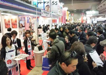 U.S. beef was a popular attraction at the Supermarket Trade Show in Tokyo