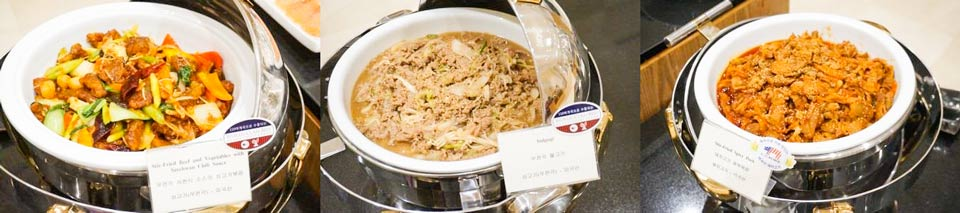 U.S. pork and beef in dishes sampled by seminar attendees