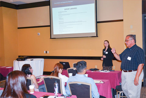 USDA-FSIS officials Juan Rodriguez and Jessica Forshee addressed seminar attendees on export documentation requirements and shared online resources that help ensure compliance