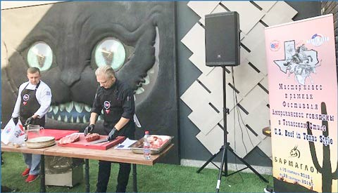 In Kazakhstan, the Texas Beef Festival included a U.S. beef cutting and cooking demonstration conducted for HRI professionals