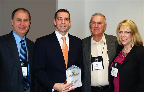Agricultural attaché Erich Kuss (second from left) with Minnesota soybean producer and USMEF Executive Committee member Scott Singlestad (far left), Wisconsin soybean producer and United Soybean Board member Bob Derr and Melanie Fitzpatrick of the United Soybean Board
