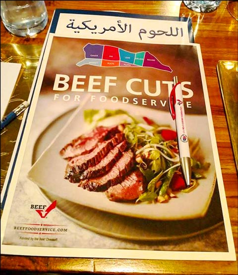 USMEF included information on alternative U.S. beef cuts that fit well with foodservice operations in Kuwait