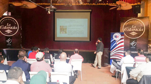An educational seminar was conducted for management and staff of the La Estancia restaurant chain in Guatemala
