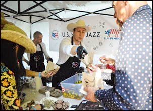 More than 1,200 visitors stopped by the USMEF booth at the outdoor music festival in Lviv