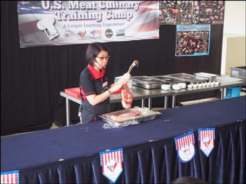Sabrina Yin, USMEF ASEAN director, shares details about the quality and versatility of U.S. pork
