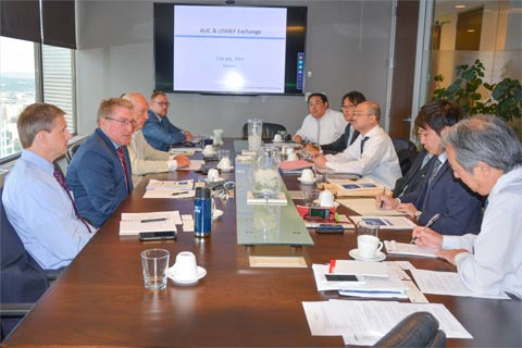 USMEF staff and the leadership of the Agriculture and Livestock Industries Corporation (ALIC) meet in Denver during the annual conference between the two organizations
